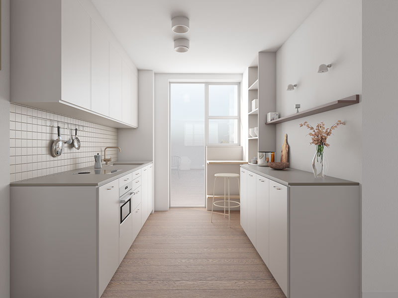small white kitchen-Marylebone-apartment-refurbishment-vorbild-architecture-2