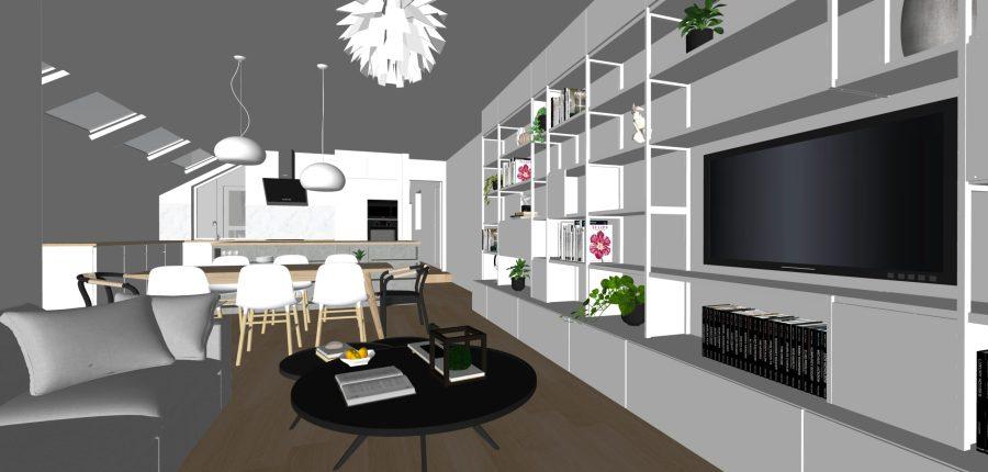 living dining kitchen garden-flat-design-vorbild-architecture-11