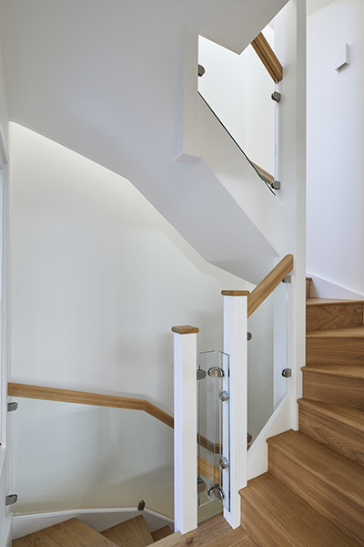 staircase Chelsea townhouse