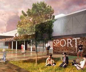 C002 Jugendzentrum in der Nähe des Busbahnhofs Preston - RIBA-Wettbewerbsbeitrag