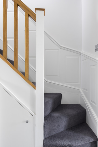 0605 - Complete refurbishment of a House in Hammersmith vorbild-architecture-stairs-panelling-4