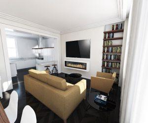 0281 Duplex élégant avec des lumières de toit près de Goodge Place, Londres