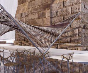 02025 Concept pour une installation de café temporaire sur le pont de Brooklyn à New York