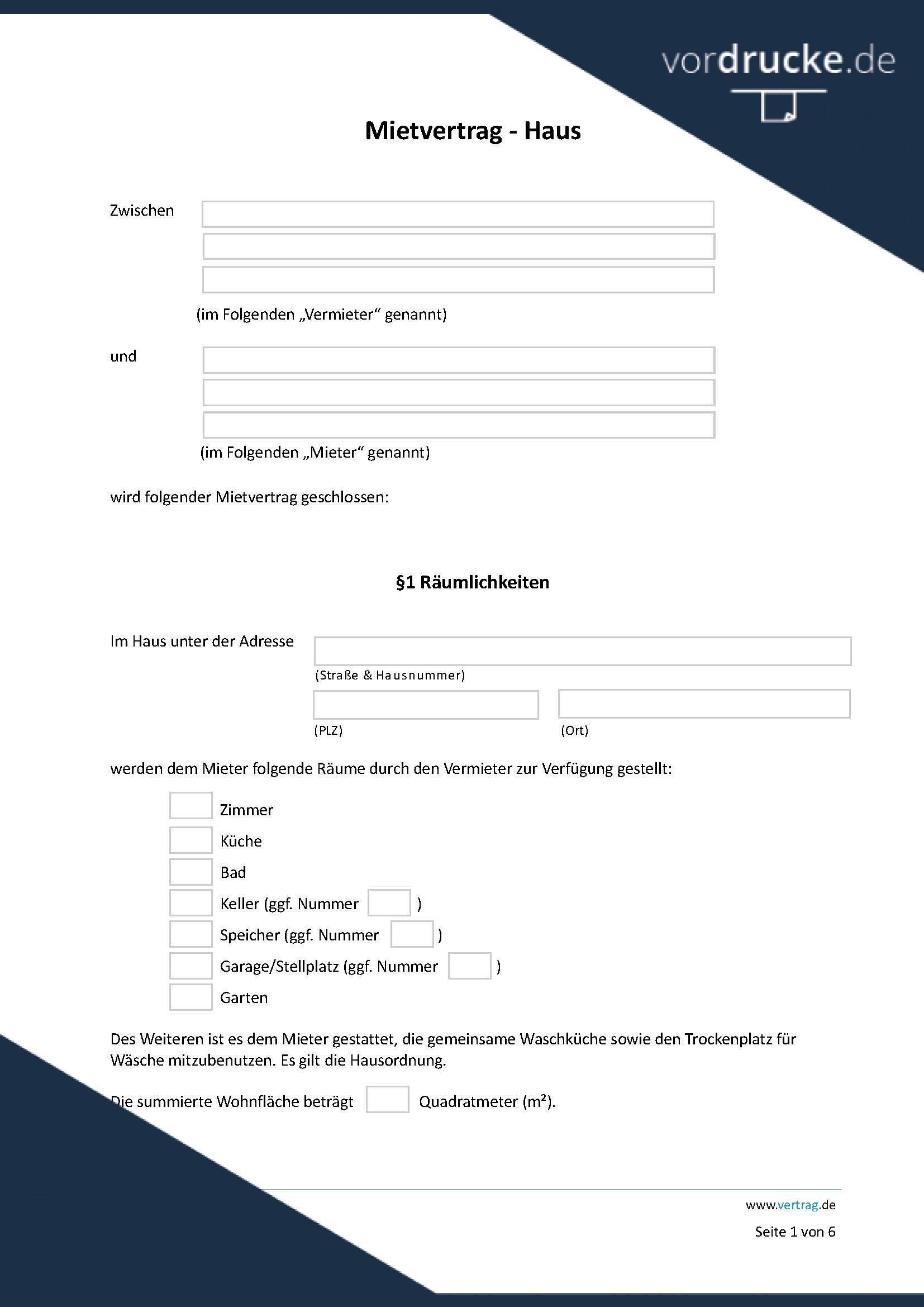Mietvertrag Vorlage Kostenlos Deutschland : mietvertrag, vorlage, kostenlos, deutschland, Unbefristeter, Mietvertrag