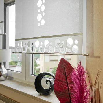 Flächenvorhang Lasercut 60 cm breit Kundenfoto Variante Gera