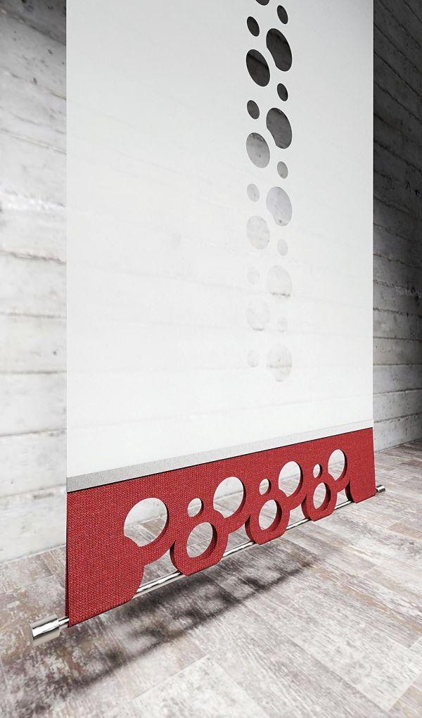 Moderner Flächenvorhang Lasercut Kombi-Cut-Abschluss-unten-Gera