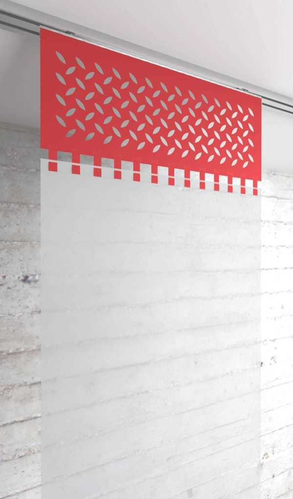 Moderner Flächenvorhang Lasercut Loop-Strap Abschluss-oben-Frankfurt