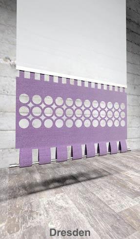 Moderner Flächenvorhang Lasercut