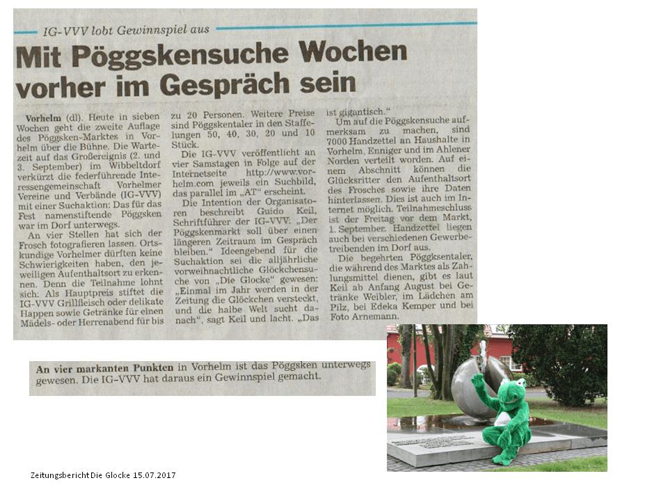 Zeitungsbericht Pöggskensuche