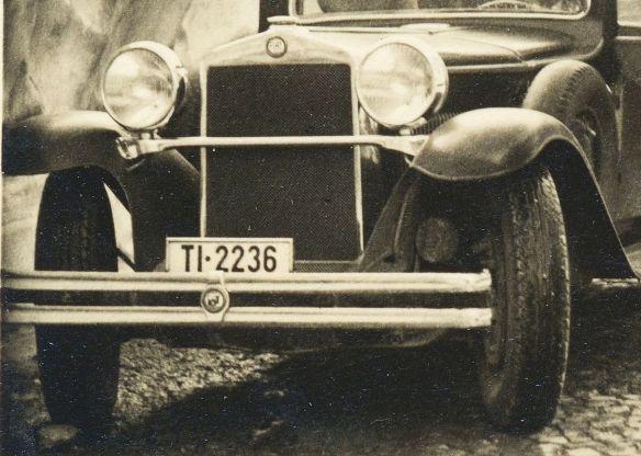 Fiat_525_um 1930_Gotthardpass_Frontpartie
