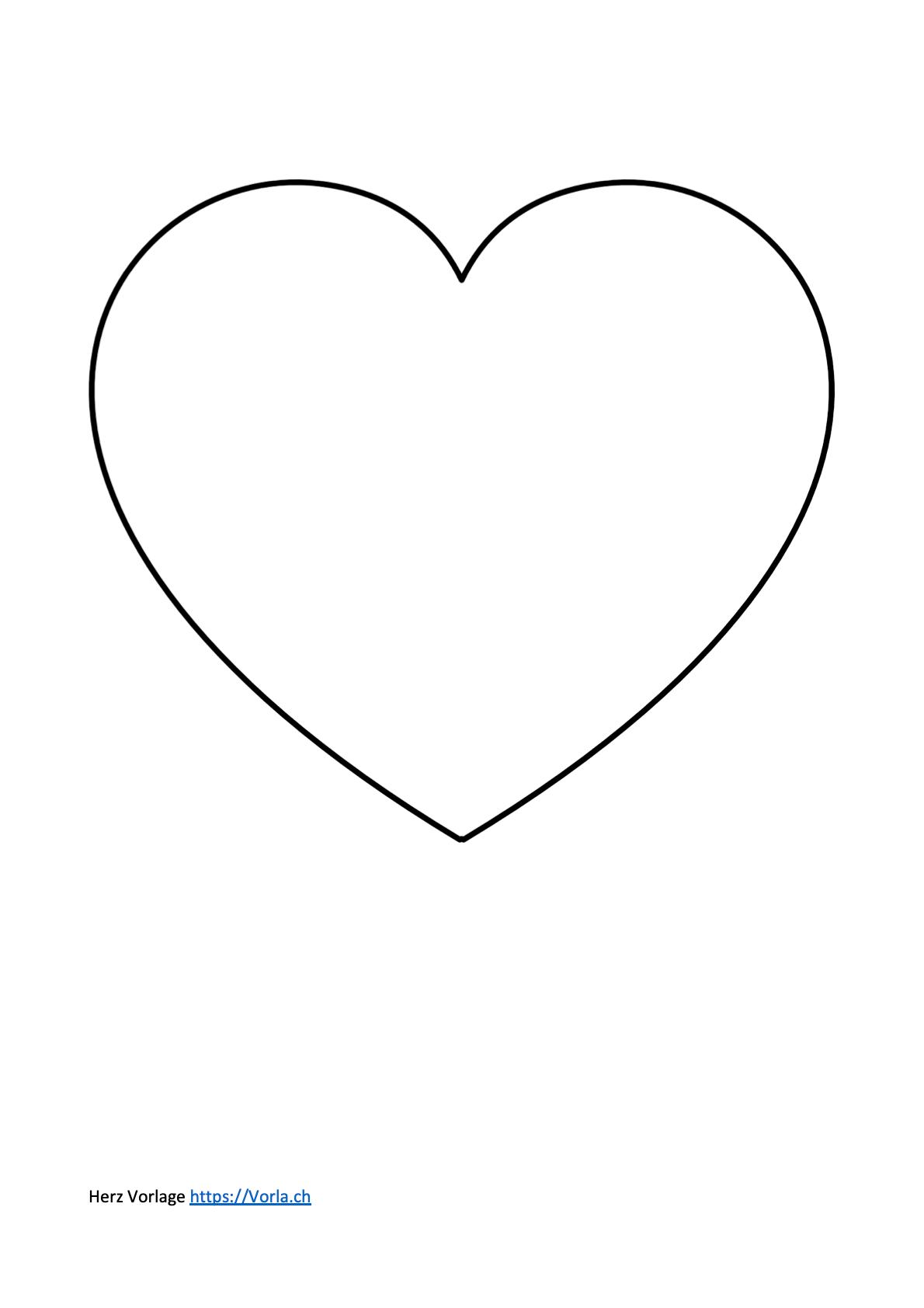 Herz Vorlage Klein Zum Ausdrucken : vorlage, klein, ausdrucken, Vorlage, Symbol, Liebe, Ausdrucken, Vorla.ch