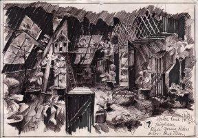 De wilde eend (NCRV, 17-1-1981), regie Gerard Rekers, decor Henk Tilder. Collectie Henk Tilder