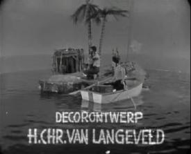 Rudi Carrell show: Robinson Crusoe met Esther Ofarim (VARA, 01-05-1964), regie Rudi Carrell, decorontwerp Hans Chr. van Langeveld