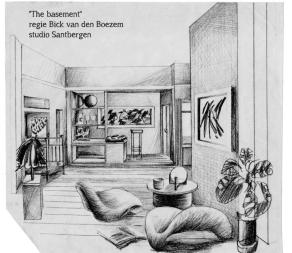 Decorontwerp The Basement (VARA)- Collectie Dorus van der Linden