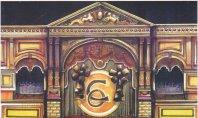 Decorontwerp 1-2-3 show: Carré (KRO, 13-11-1984), decor Roland de Groot. Collectie Roland de Groot