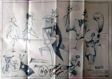 Lange Jaap (VPRO, 1985-1987), regie Ben Sombogaard, decor Henk Tilder. Collectie Henk Tilder