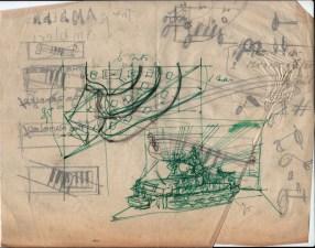 De oudst bewaard gebleven decorschets uit het archief van Peter Zwart