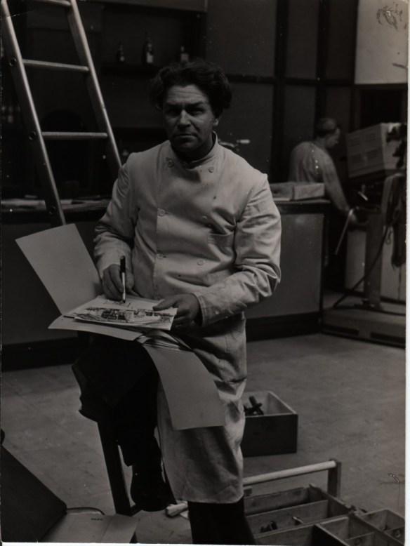Portret van Peter Zwart voor De Telegraaf. Fotograaf Stevens, mei 1953
