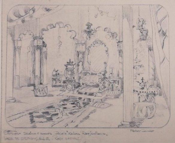 De eerste lichtdruk, Keizer Rasjudan verveelt zich (VARA, 6-4-54). Collectie Beeld en Geluid/Peter Zwart