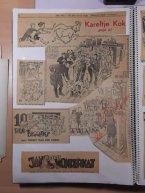 Grijzen illustreerde voor vele dag- en weekbladen. Soms staat in rood aangegeven wat hij aan zo'n tekening verdiende.