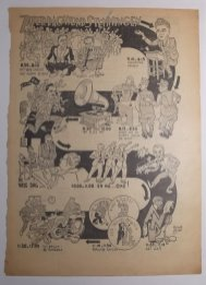 Voor de VARA radiogids tekende Grijzen prachtige programma-overzichten van het zaterdagavond programma. Periode 1939-1940