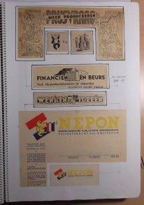 Illustraties voor het Financieel Dagblad en briefhoofden voor NEPON, ca 1956-1947
