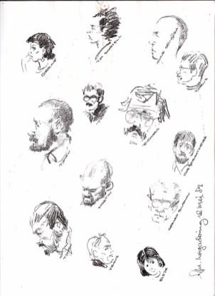 Portretten van decorontwerpers, gemaakt mei 1987 door Cor Hermeler. Collectie Nick de Weerd