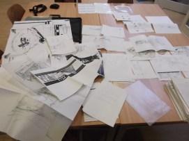 Andre Postma bewaarde naast maquettes ook alle tekeningen, schema's, correspondentie, schetsen, plattegronden