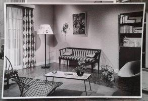 Modern interieur voor reclamefilm. Collectie erven Van Baarle