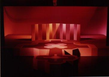 Maquette Op losse groeven (TROS, 1975). Decorontwerp Julienne van der Erve. Collectie Martien van den Dijssel