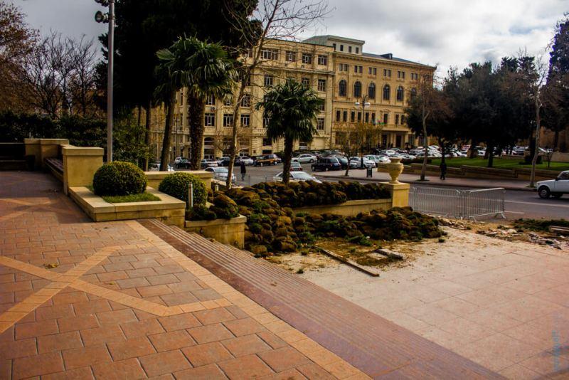 Настил газона в Баку