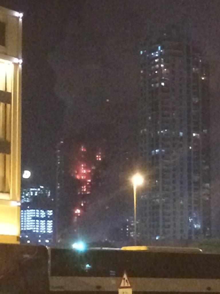Пожар в отеле Дубая