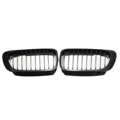 Chrome / Carbon Fiber Car Front Kidney Grille Grill For BMW E46 M3 2DOOR 1999 2000 2001 2002 2003 Racing Grills