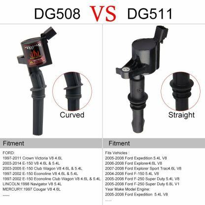 10 PACK HIGH PERFORMANCE IGNITION COIL FOR FORD F150 DG508 4.6L 5.4L 6.8L V8 V10