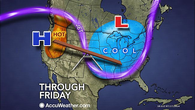jetstream brings cold records to east US july 19th 2014