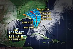 Cone of storms predicted track