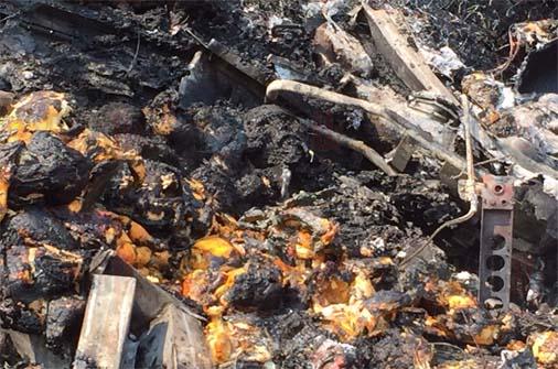 Murieron calcinados tras choque en Las Choapas