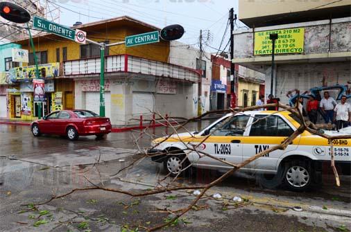 Intensa lluvia azotó a la ciudad capital