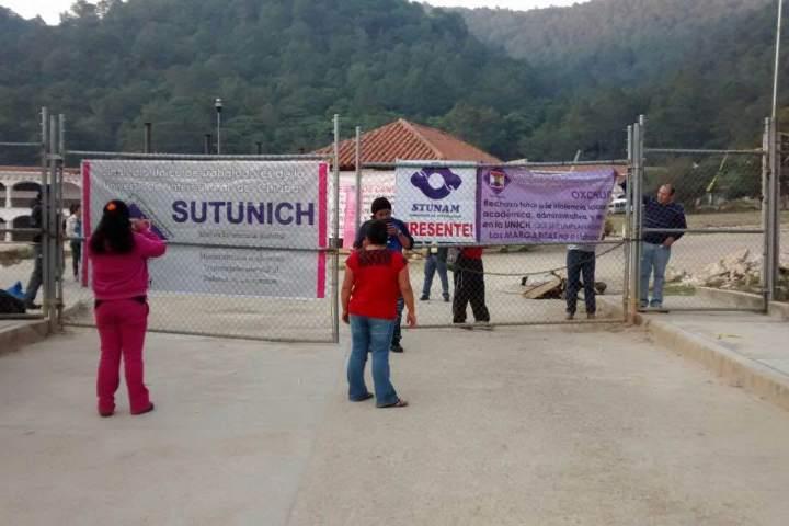 Maestros y trabajadores de la Unich exigen reanudar clases