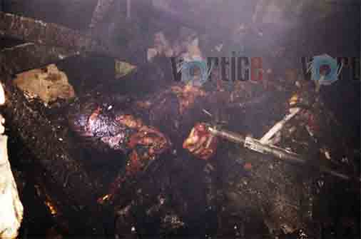 Murió calcinado tras incendio en Coita