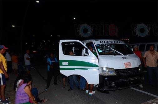 12 heridos en colectivazo