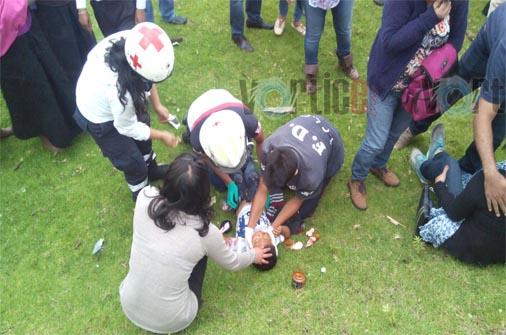 Encontronazo deja seis heridos en San Cristóbal