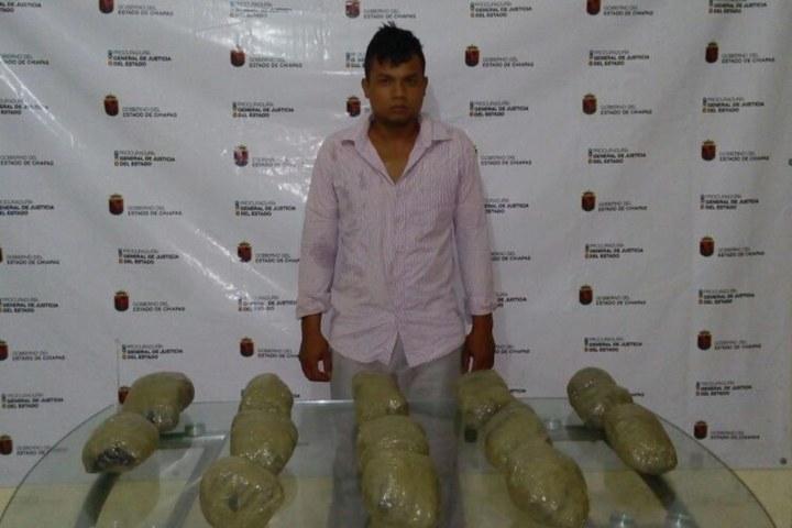 Lo detuvieron con 5 kilogramos de mariguana en Tapachula