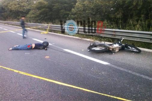 Muere motociclista tuxtleco en Berriozábal