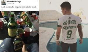 """Jugador de Chiapas """"sufre"""" con botella de whisky"""