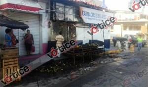 Queman puesto ambulante en el centro de Cintalapa