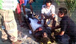 Colectivo aplasta y mata a peatón; le provocó exposición de vísceras y fracturas