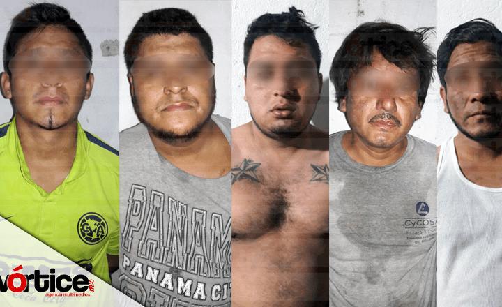 Policía de Tuxtla, PGJE y SSyPC detienen a seis personas tras balacera en la Democrática