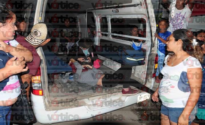Colectivazo en la Patria Nueva; colonos intentar linchar a policía de Tránsito