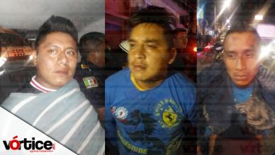 Detienen a tres presuntos asaltantes tras intensa balacera en Tuxtla